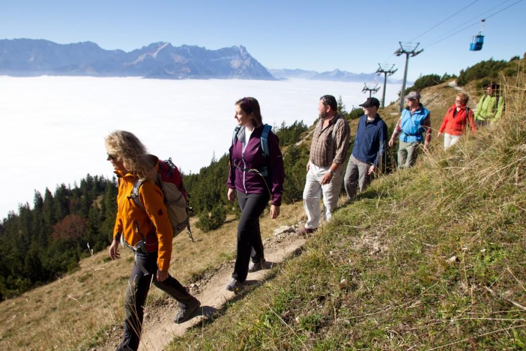Wandern am Wank bei Garmisch Partenkirchen