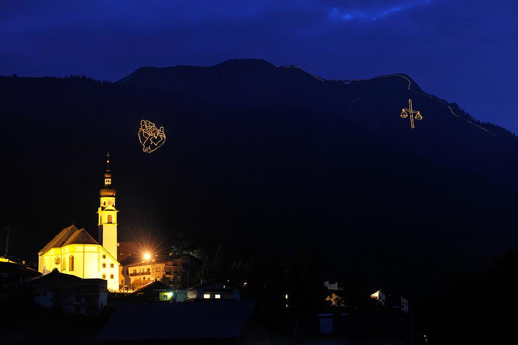 Zugspitze Bergfeuer Tirol